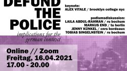 Defund the Police: Implications for the German Context